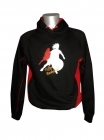 Sweat Californie City noir et rouge