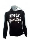 Sweat Sport et Style Jr noir et blanc