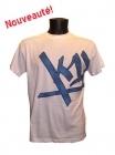 Tee-shirt Hacksaw Jim Lux blanc et bleu