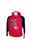 Sweat bicolore Indiana School rouge et marine