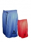 Short r�versible Chicago Park bleu et rouge